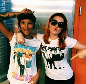 Les filles assurent la première partie, lors de la tournée nord-américaine Source : Instagram.com/iconapop